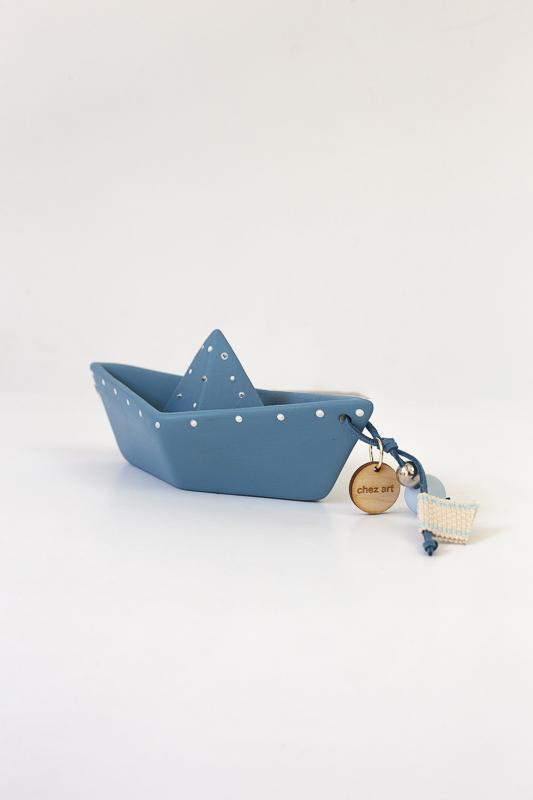 Καράβι origami μπλε