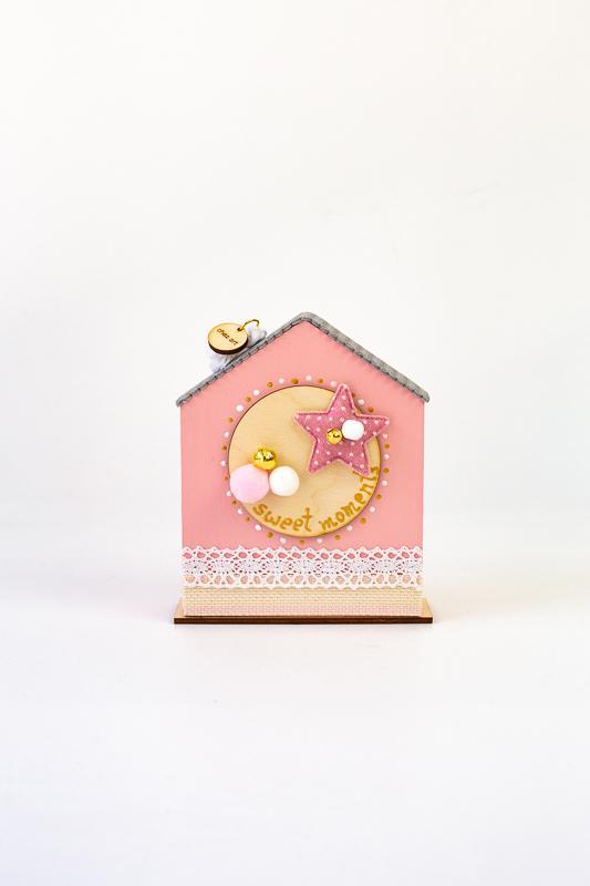 Σπιτάκι καλοτυχίας (ροζ)