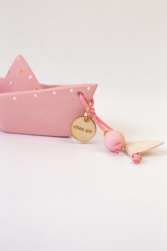 Καράβι origami ροζ